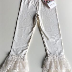 Persnickety | Cream Ruffle Lace Alexa Leggings | 5